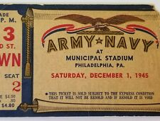 Army Navy Football Game Ticket 1945 Philadelphia