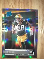 AJ DILLON 2020 Donruss Optic Silver HOLO #174 Rated Rookie RC Green Bay Packers