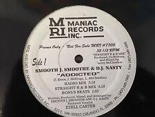 "ORLANDO RAP 12"": SMOOTH J SMOOTHE & DJ NASTY,Addicted,Maniac Records"
