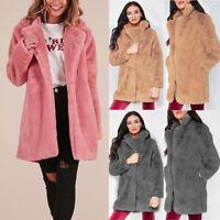 Fashion Women Winter Coat Ladies Fluffy Fur Warm Baggy Long Jacket Outwear Plus