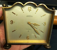 Vintage rare Art Deco ANGELUS Swiss Alarm desk mantle Clock 8 days 859 15 jewels