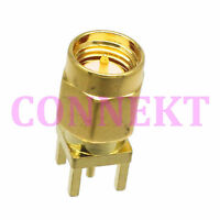 1pce SMA male plug center solder for PCB mount RF connector
