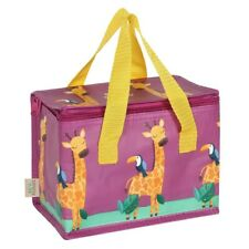 Gordon Giraffe Insulated Lunch Bag, Kids Bright Cooler Bag, Children School Bag