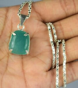 Cabochon Emerald 925 Silver 38.10 Ct Natural Gems Pendant Ideal Engagement Gift