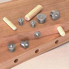 8Pc Dowel Drill Centre Points Pin Wood 6mm 8mm 10mm 13mm Dowel Tenon Center Set