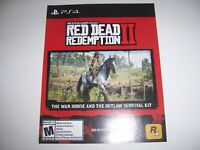 Red Dead Redemption II 2 DLC for PlayStation 4 PS4 War Horse Outlaw Survival Kit
