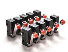 10 x Microswitch leva con rotella miniatura pulsante fine corsa 1A 250 V SPDT