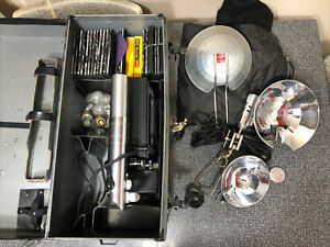 Graflex Crown Graphic Camera & Accessories 3 Cell Lightsaber Flash Sol King PLUS