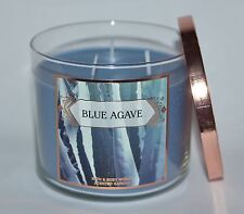 BATH BODY WORKS BLUE AGAVE SCENTED CANDLE 3 WICK 14.5OZ LARGE ALOE NECTAR CACTUS