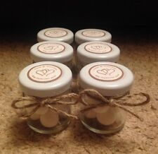 Personalised Miniature Jar Wedding Favours x 50 in Vintage Style