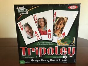 TRIPOLEY [Diamond Edition] The Game Of Michigan Rummy, Hearts & Poker SEALED