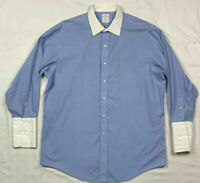 Brooks Brothers 346 Mens Blue Striped L/S Button Down Shirt Sz 16 1/2-32 D2