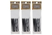 """Amish Made Straight Heavy Duty  2  """"Stainless Steel Hairpins  3 PACKS"""