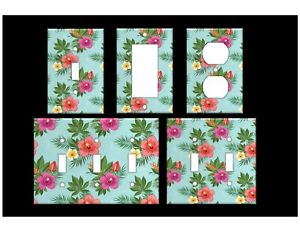 HAWAIIAN FLOWERS #2 Light Switch Covers Floral Home Decor Outlet