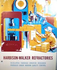 HARBISON-WALKER ASBESTOS Furnace Boiler Insulation 1962 Magnamix Fiber Coating