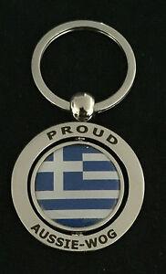 PROUD AUSSIE - WOG Greek METAL KEYCHAIN KEYRING GIFT AUSTRALIAN GREECE SOUVENIR