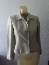 Ann Taylor cotton/linen jacket olive green sz 4P