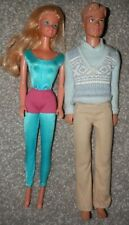 Barbie and ken doll VINTAGE 1966 & 1968 with clothes nice condition