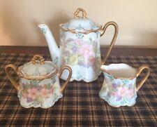 Limoges Antique Unmarked Tea Set. Beautiful. Excellent Condition
