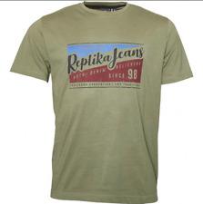 Replika Jeans Printed T-Shirt/Winter Olive - 4XL New!