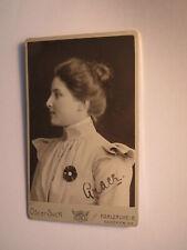 Grace Gracie Hekel ? Eckel ? aus Metz - Victoria-Pensionat ? 1900 CDV Karlsruhe