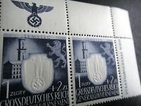 Germany Nazi 1943 Stamps MNH Embossed Swastika Eagle Generalgouvernement WWII Th