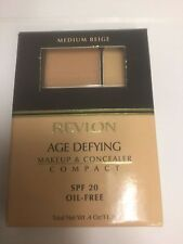 Revlon Age Defying Makeup & Concealer Compact MEDIUM BEIGE NEW.