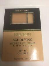 Revlon Age Defying Makeup & Concealer Compact MEDIUM BEIGE NEW.