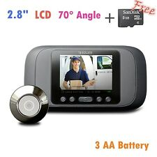 Eques Digital Door Peephole Viewer Record LCD Security Camera Monitor + 8GB SD