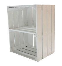 weiße Obstkiste mit Regalboden/Zwischenboden,Schuregal/Bücherregal,Holzkiste