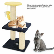 3 Layers Cat Tree Tower Scratcher Furniture Scratching Post Pet Play Toy Funny