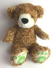 "M&M World Plush Brown Bear 13"" Featuring The Green M&M #20A"