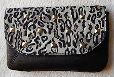 NEW Grace Adele FAITH Ocelot Clutch Purse Bag 22 inch detachable strap