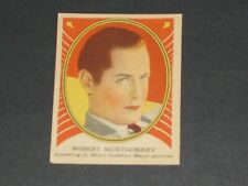 Hollywood Gum, Hamilton Gum version(V289), #25, VERY NICE CARD,ROBERT MONTGOMERY