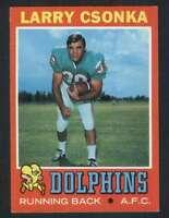 1971 Topps #45 Larry Csonka NM/NM+ Dolphins 65634
