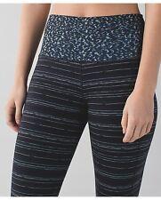 Lululemon Skinny Groove Pant Cyber Stripe Naval Blue Black Digi Pixie Caspian, 2
