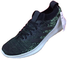 $110 Adidas Pure Bounce + Mens Size 13 M Black And Neon Green Athletic Shoes NWT