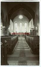 REAL PHOTOGRAPHIC POSTCARD OF THE INTERIOR OF WINTERINGHAM CHURCH, LINCOLNSHIRE
