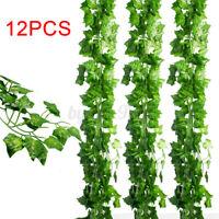 Artificial Hanging Plant Fake Flower Leaf Long Green Silk Ivy Vine Garland Décor