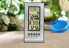 LCD Electronic Alarm Clock With Indoor Temperature and Humidity Display Calendar