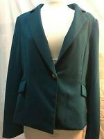Calvin Klein Women's Blue Crepe One Button Blazer Jacket NWT- 8P, 14P, 24W