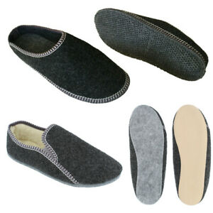 Herren leichte Filz HausSchuhe Pantoffeln Sneakers mit Schafwolle 40-46 NEU