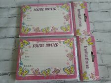10 Pink Invitations With Envelopes