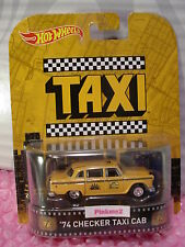 2015 Hot Wheels Taxi '74 CHECKER TAXI CAB☆Yellow; Real Riders☆Retro Enter