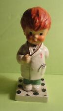 Goebel Charlot Byj Redhead Boy Trouble Shooter Soccer Porcelain Figure #67