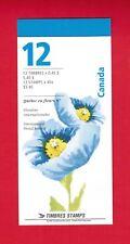 1997 CARNET TIMBRES CANADA BOOKLET  STAMPS BK199b # 1638  BLUE POPPY DA18