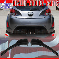 Fits 2012-2017 Hyundai Veloster 2PC Sequence Style Rear Bumper Chins Body Kit PP