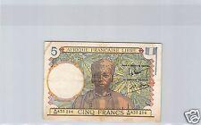 AEF AFRIQUE EQUATORIALE FRANCAISE CAMEROUN 5 FRANCS ND ALPHABET A.22 TRES RARE