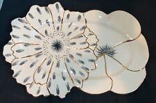"Anthropologie PAPETAL Floral Stoneware 15"" Platter Jennifer Tran"