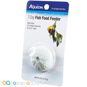 Aqueon 7 Day Fish Food Feeder Tropical Freshwater 5-6 Medium Fish for 7 days